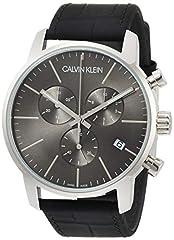 Idea Regalo - Calvin Klein Orologio da Uomo Cronografo al Quarzo con Cinturino in Pelle - K2G271C3