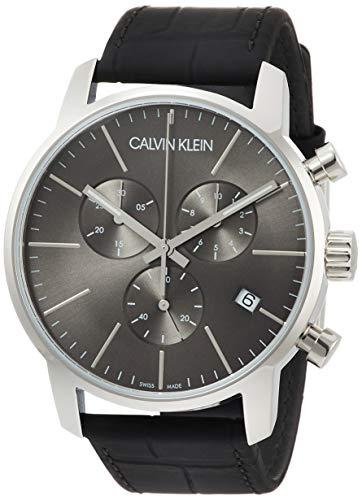 Calvin Klein Montre Homme Chronographe Quartz avec Bracelet en Cuir - K2G271C3