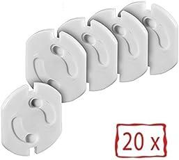 Offgridtec® 20x Kindersicherung für Steckdose mit Drehmechanik - Steckdosensicherung Baby Kleinkinder