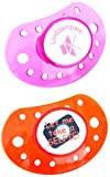ESSKA Trendy in lattice, in Silicone trasparente, colore: arancione/rosa trasparente, confezione da 2 pezzi