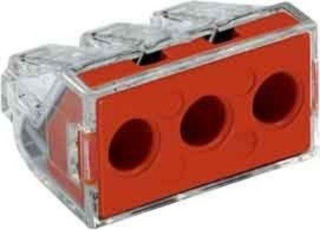 WAGO Limit 773–1733pol Push Wire Connector, orange/transparent, 25–60mm (Push-wire)