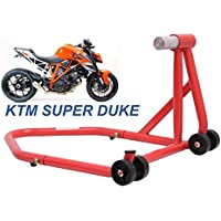 copertina arancione 200//390 RC125 200//390 690 Nero LanLan Accessori per moto Robusto cavalletto laterale per KTM DUKE125