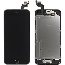 LL Trader Reemplazo de pantalla para iPhone 6 (4,7 pulgadas) Negro LCD Touch Digitalizador Montaje Completo de la Pantalla Con Botón de inicio+Cámara frontal+Sensor de proximidad+Altavoz para el oído+Herramientas completas de Reparación