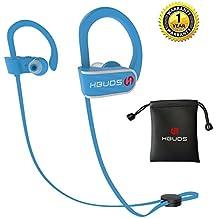 Auriculares Inalambricos Bluetooth Deportivos 4.1 Hbuds H1 con Micrófono y Cancelación de Ruido y Impermeables IPX7 para Hacer Correr Running Compatible con iPhone Sony Huawei Samsung– Azul