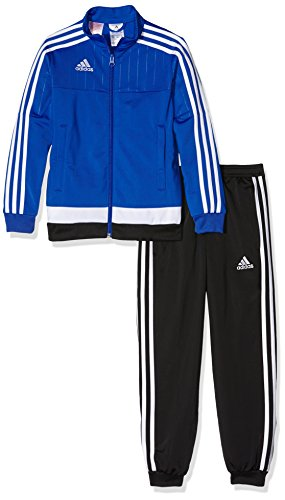 adidas Kinder Sportanzug Tiro15 pes su y, bold blau/Weiß/schwarz, 164, S22299