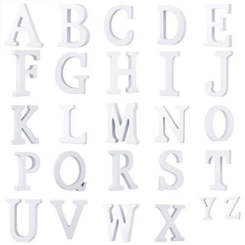 Weiße Holzbuchstaben A-Z Wörter für Hochzeitsgeschenk Dekoration