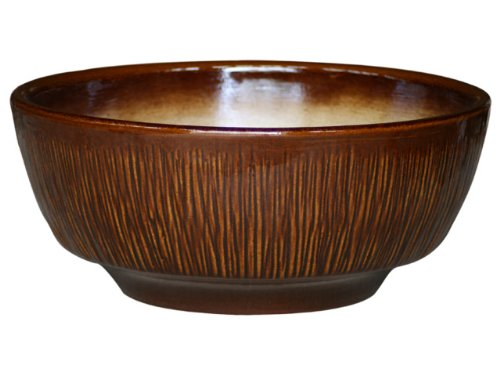 Pot pour plantes Roma, 46 x 20 cm Marron brillant en frostbeständiger Grès – Céramique