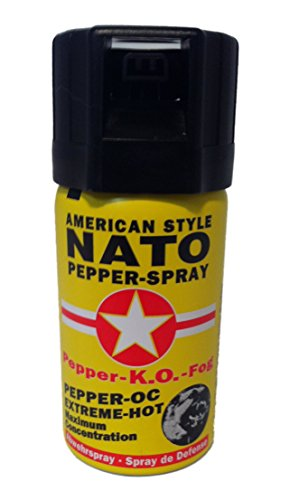 Pfefferspray 40ml Dose NATO OC Pfeffer KO Spray Selbstverteiligung Abwehrspray MADE IN GERMANY -