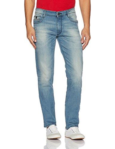 John Players Men's Slim Fit Jeans (ZCMWJNA170013002_Indigo_30W x 34L)