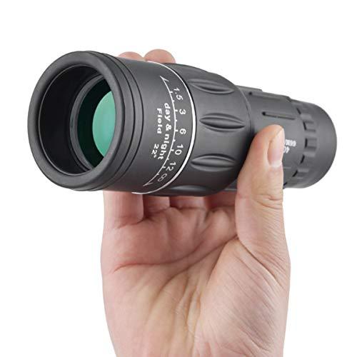 Wallfire 40X60 HD Telescopio Monocular, Mini Portátil, Doble Foco, Día y Visión Nocturna, Caza Monocular, Camping Senderismo, Telescopio, Teléfono para Viajes