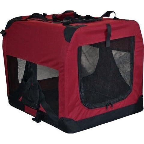 Tacto suave de gato y perro portátil con orificio en forma de bolsa grande para caseta jaula para casa, granate,