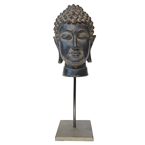 decoration & design Statue de Bouddha sur Pied Noir Hauteur 45 cm