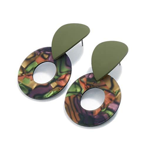 Mypace 925 Silber Gold Set Creolen hängende Ohrringe Für Damen Persönlichkeit Kreative Metall Acetat Platte Geometrische Pailletten Ohrringe Damen Schmuck