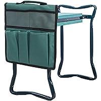 Kasfam Garden Kneeler Tool Bag Bolsa de Almacenamiento de Herramientas de jardín con Banco de Rodilla 30 * 19 * 0.5cm