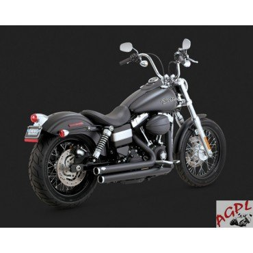 Preisvergleich Produktbild Harley Davidson FXD 1584 – 1690 – 12 / 16-silencieux Auspuff Vance Hines Big Shots Staggered black-1800 – 1413