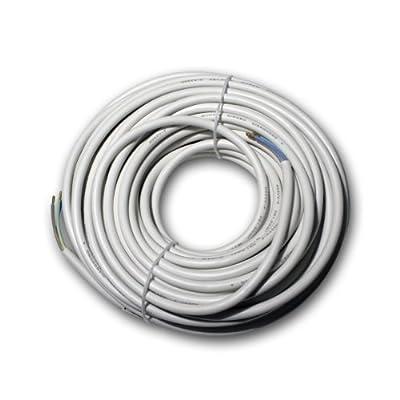 Netzkabel-Ring, 25m, weiß 3-adrig, HO5VV-F, 3x1,0mm² von ETT - Lampenhans.de