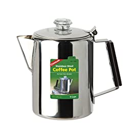 Coghlan's Unisex – Adult's Coffee Pot Stainless Steel jug