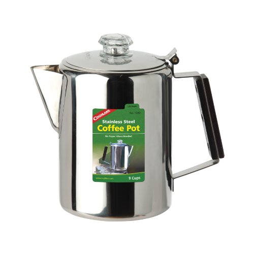 41 40L7NslL. SS500  - Coghlans Unisex - Adult Coffee Pot Stainless Steel Jug, Silver, 9 Cups