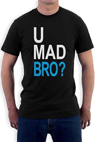 U Mad Bro T-Shirt Schwarz