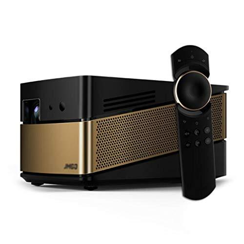 Projektor Home HD 1080Pwifi Wireless-Büro Smart 3D-Heimkino-Projektor 4K (Color : Black, Size : 20.8 * 13.3 * 10.8cm)