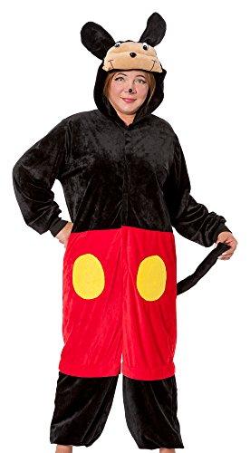 R-Dessous Mouse Damen Kostüm Plüsch Maus Micky minnie Mickey Verkleidung Karneval Fasching Overall Jumpsuits Groesse: S/M