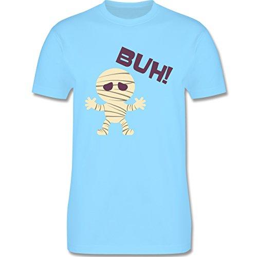 Halloween - Mumie Buh süß - Herren Premium T-Shirt Hellblau