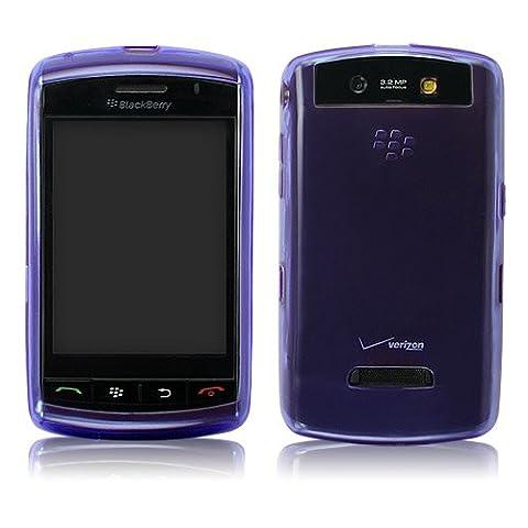 BoxWave Pure Blackberry 9530Kristall Slip–Colorful Slim Fit TPU Gel Haut Schutzhülle für Durable Anti-Rutsch-Schutz (violett blau)