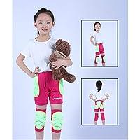 LHKAVE Pantalones Cortos Acolchados De Protección para La Cadera De Los Niños Equipo De Protección para Montar En Bicicleta Patinar Sobre Ruedas SKI, Protector De Rodilla,Red,XXXS