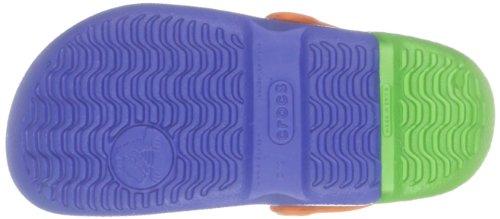 Crocs Electro Kids, Sabots Mixte Enfant Bleu (Sea Blue/Lime)