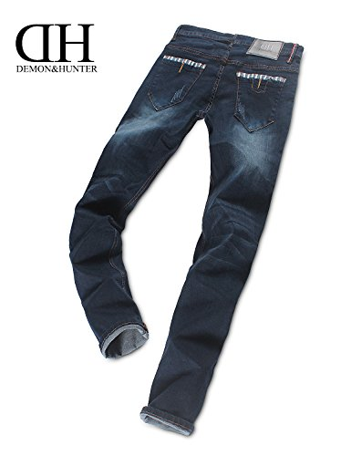 Demon&Hunter JUGEND Series Herren Skinny Slim Fit Jeans DH8008 DH8058 x Mode Marine x Normal