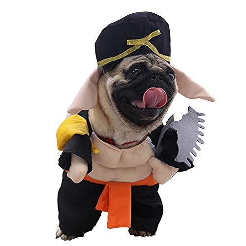 Andre Link-Haustier-Halloween-Kostüm, Winter-Kleiner Hund Cosplay-Schwein verwandelt Sich in stehende Kleidung (M, ()