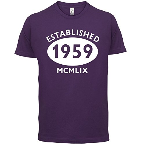 Gegründet 1959 Römische Ziffern - 58 Geburtstag - Herren T-Shirt - 13 Farben Lila