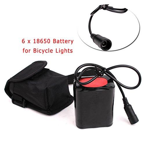 Moto Luci LED Batteria Parti 6x18650 7200mAh 8.4V Per Fari Guidato Moto Universale Luci Connettore Adattatore - X3 X2 N3 N2 (Parti di Batteria)