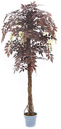Vert Lifestyle Rot Japanischer Blütenbaum, Rote Blüten Japanische künstliche Bäume - Pflanze, Real Holz gedreht Stämme. Höhe 170cm (Pflanze Künstliche Japanische)