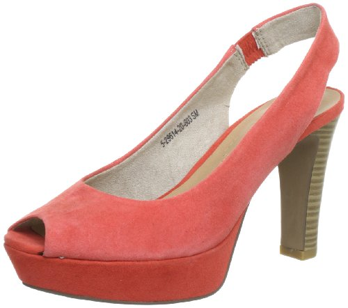 S.Oliver Selection 5-5-29614-20, Damen Pumps, Orange (Papaya 603), EU 39