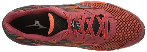 Mizuno Wave Hayate 2 Synthétique Chaussure de Course Rosewood-Black-Fiesta