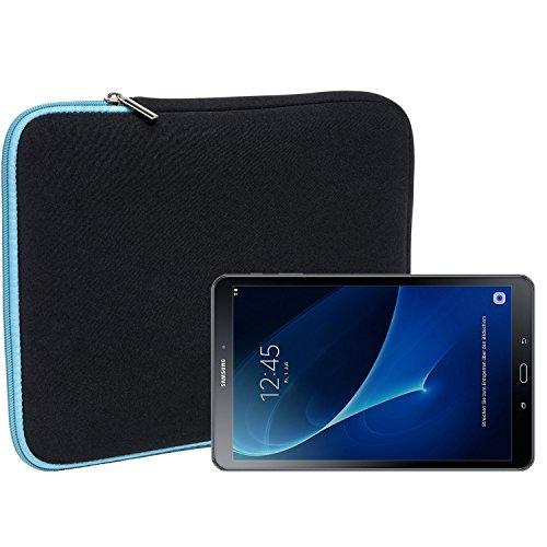Slabo Tablet Tasche Schutzhülle für Samsung Galaxy Tab A (2016) 10.1 Hülle Etui Case Phablet aus Neopren – TÜRKIS/SCHWARZ