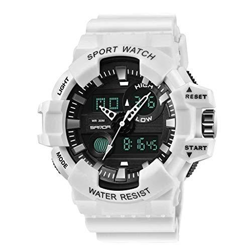 TTLOVE Digital Uhren für Herren - Wasserdicht Outdoor Sports Digitaluhren Analog Armbanduhr mit Wecker/Timer/LED-Licht, Elektronische Stoßfest Handgelenk Uhr