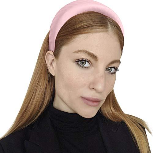 YWLINK Mode Schwamm Sport Haarband Volltonfarbe Damen Haar Kopfband Einfache SüßE MäDchen Stirnband(Rosa)