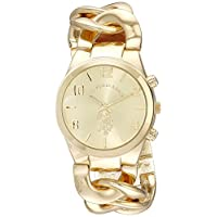 U.S. Polo Assn. Women's Gold Dial Alloy Band Watch - USC40069