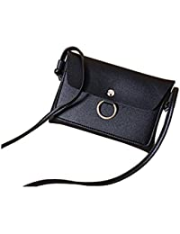 Zoonai Women Small Crossbody Shoulder Bag Purse Cellphone Wallet Change Pouch (Black)