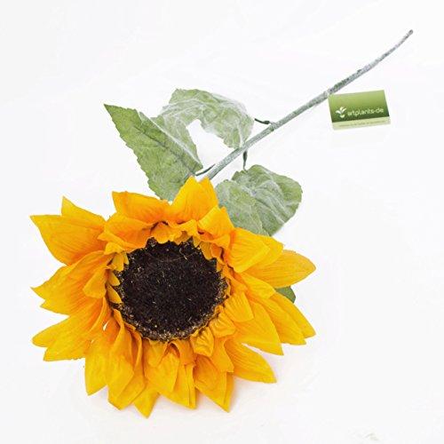 artplants Set 3 x Künstliche Sonnenblumen, gelb, Ø 15 cm, 100 cm – Kunstblume/Sonnenblumen künstlich