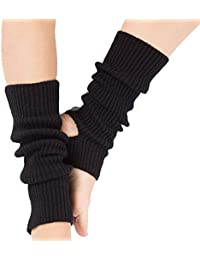 Tukistore Mujeres Chicas Calcetines Largos de Yoga Largos Calcetines Deportivos de Ganchillo Cubierta de Botas croché