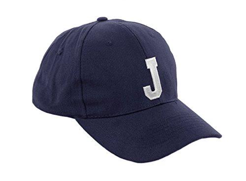 Unisex Jungen Mädchen Mütze Baseball Cap Marineblau Hut Kinder Kappe Alphabet A-Z Morefaz TM (J)