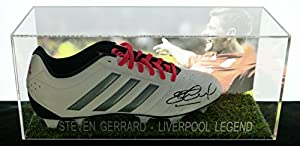 Steven Gerrard signed boot in an acrylic box with COA by FMS