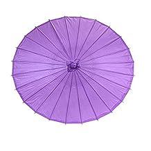 Ppower Paraguas estilo japonés chino bambú Sombrilla Paraguas de danza (Púrpura)
