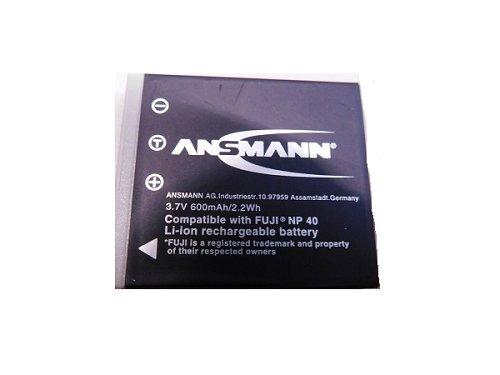 ANSMANN 5022483 A-Fuj NP-40 Li-Ion Digicam Ersatzakku 3,7V/600mAh für Fuji Foto Digitalkamera - Fuji Np 40