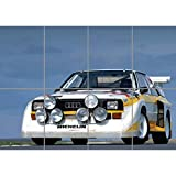 CARS AUDI QUATTRO S1 SPORTS RALLY CAR HUGE POSTER PLAKAT DRUCK ART PRINT PICTURE KB706