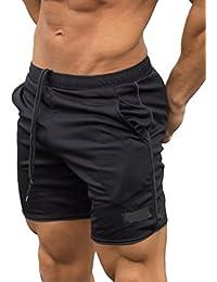 Zinmuwa Hombres Casual Pantalones Cortos De Playa De Rendimiento De Secado Rápido Con Bolsillos 92tLZd