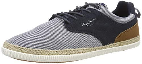 Pepe Jeans MAUI Jay, Alpargatas para Hombre, Azul 585marine 585, 44 EU